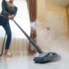 woman washing the floor